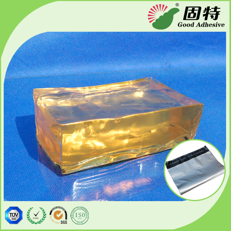 Main ingredients 	SBS Yellow and transparent Block solid  Bag Repair PSA Hot Melt Adhesive Pressure Sensitive Based