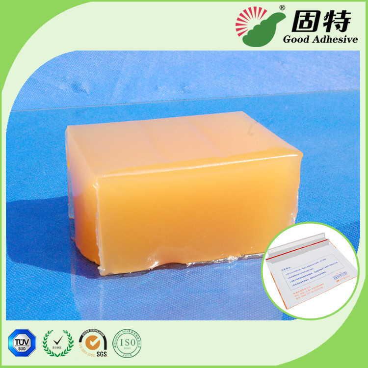 Yellow and semi-transparent block Strong Hot Melt Pressure Sensitive Adhesive For Mail Envelope Sealing