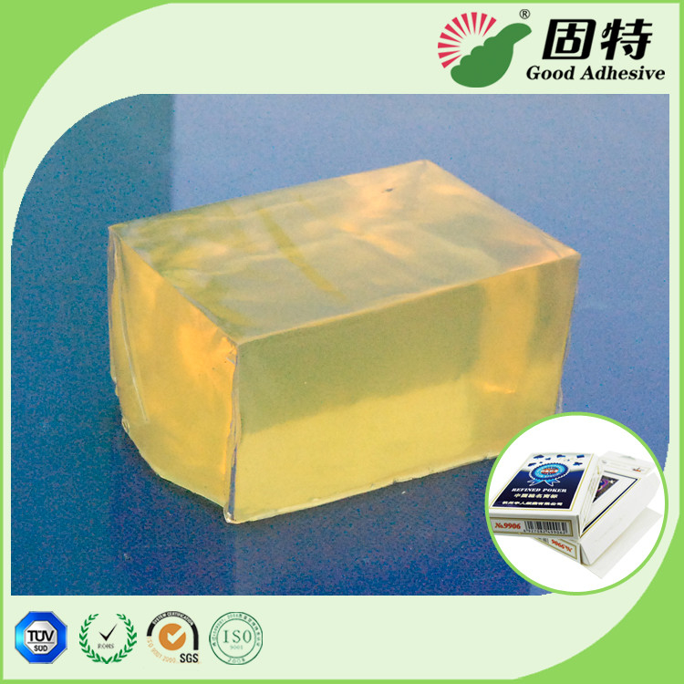 Hot Melt Pressure Sensitive Adhesive Mainly Used for Box Sealing Such as Play Card Box and Tea Box