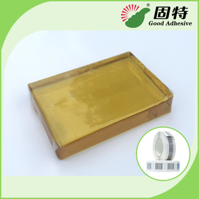 PSA  Tape For Paper Label , Yellow And Transparent Block hotmelt adhesive glue